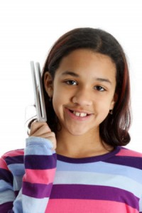 image of girl-with-tuning-fork
